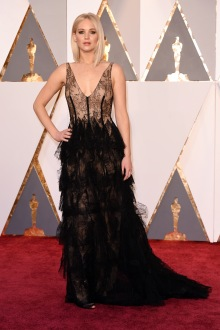 The Best Actress nominee in a Dior Haute Couture gown, Manolo Blahnik shoes, and Chopard jewelry.